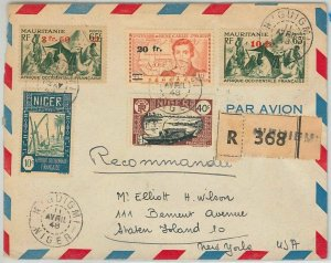 45110 - AOF NIGER / MAURITANIA - POSTAL HISTORY: COVER from N'guigmi to USA 1948