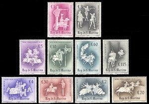 San Marino 1963 Scott #554-563 Mint Never Hinged