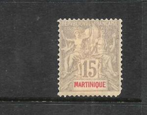 MARTINIQUE 1899-06   15c  PEACE & COMMERCE  MH  SG 48