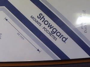 SHOWGARD MOUNTS # 44--215MM LONG x 44MM WIDE---15 STRIPS---BLACK /NEW