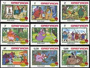 Grenada 1127-1135, MNH, Disney Christmas Robin Hood