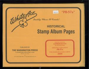 2005 White Ace U.S Commemorative Issue Plate Block Stamp Supplement Pages PB-57s