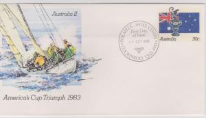 Australia 1983 Prestamped Envelope #67a America's Cup First Day Cover