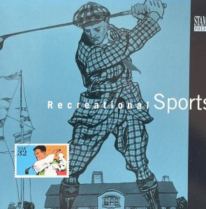 US Stamp Folio 1995 Recreational Sports designs of 4 #2961-65 booklet