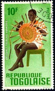 Art & Craft, Basket Maker, Togo stamp SC#568 used