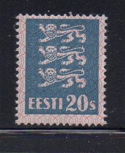 Estonia Sc 99 1928 20s Arms stamp mint
