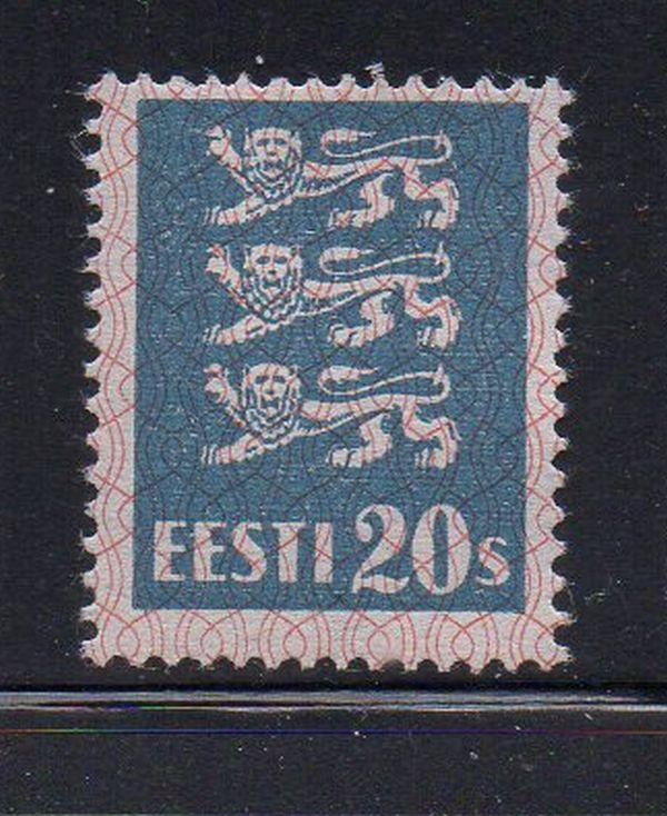 Estonia Sc 99 1928 20s Arms stamp mint
