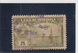 Venezuela  Scott#  C254  Used  (1947 Oil Wells)