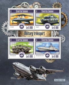 Sierra Leone MNH S/S Military Transports 2015 4 Stamps