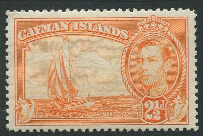 Cayman Islands -Scott 114 -KGVI Definitive Issue -1947- MLH -Single 2.1/2d Stamp