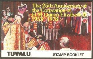 TUVALU Sc# 81 - 84 var MNH FVF Booklet Complete Queen Elizabeth II 25th Anniv