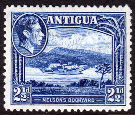 Antigua KGVI 1938 2.5d Deep Ultramarine SG102 Mint Hinged