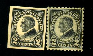 US #611-12 MINT F-VF OG 611 NH 612 LH Cat$24