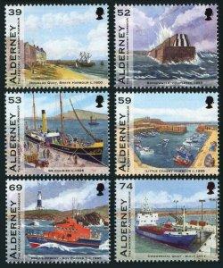 Alderney 446-451,MNH. Harbors & ships,2012.