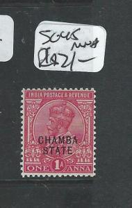 INDIA CHAMBA (PP0804B) KGV 1A  SG 45   MNH
