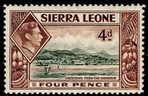 SIERRA LEONE SG193, 4d black & red-brown, NH MINT.