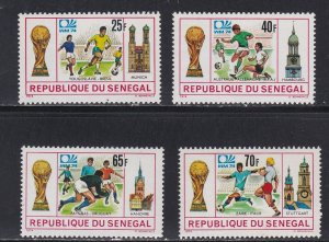 Senegal # 400-403, World Cup Soccer, NH, 1/2 Cat.