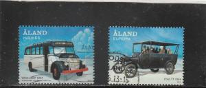 Aland  Scott#  335-6  Used  (2012 Public Transportation)