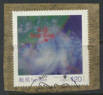 Hong Kong from MS 1863 VFU on piece  Lenticular stamp of Typhoon Vicente