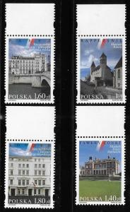 Poland 1999 Polish Cultural Building in Foreign Countries Sc 3491-3494 MNH A1047