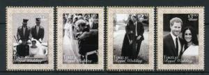 Tokelau 2018 MNH Prince Harry & Meghan Royal Wedding 4v Set Royalty Stamps