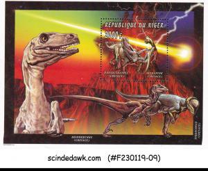 NIGER - 1996 PREHISTORIC ANIMALS / DINOSAURS - MIN. SHEET MINT NH