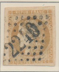 France Stamp Scott #42, Used, Nice Margins - Free U.S. Shipping, Free Worldwi...