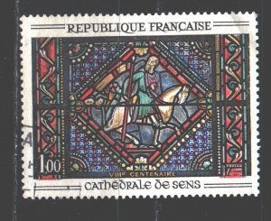 France. 1965. 1513. Stained glass. USED.