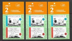 Finland 1268 MNH set x 3, vf, see desc. 2020 CV$15.00