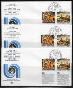 United Nations 627-28 1993 HR Geneva Cachet FDC First Day Cover