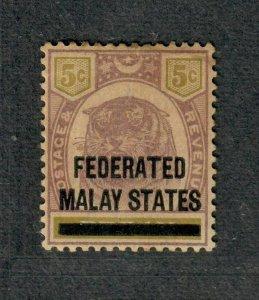 Malaya Sc#4 M/H/VF, Toned Gum, Cv. $80