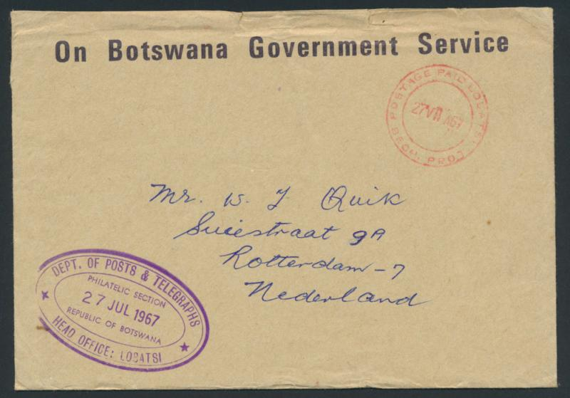 Botswana - On Government Service Envelope  SPECIAL - Air Mail please read det...