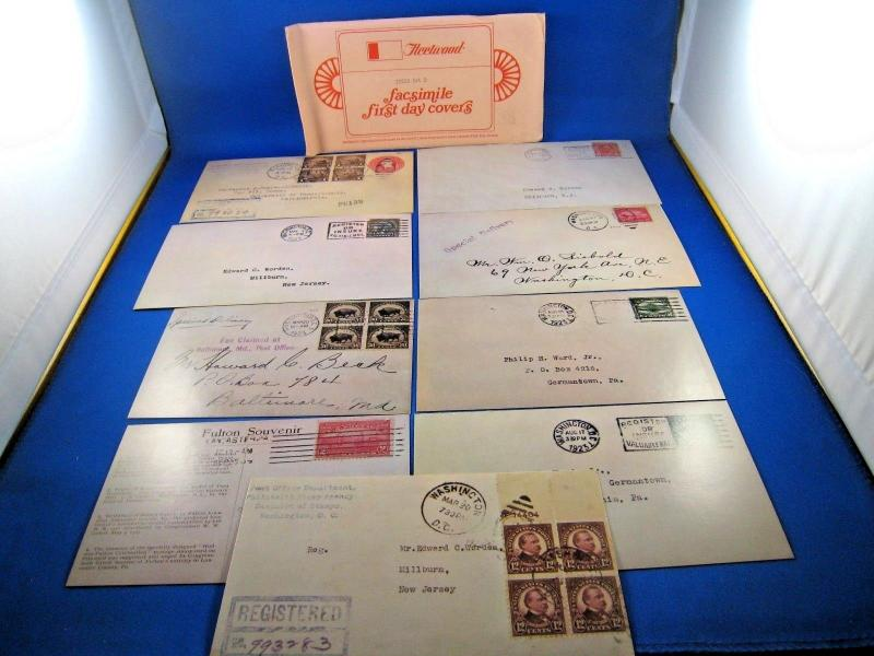 U.S. FIRST DAY COVER SETS - LOT of 9 - FACSIMILE FDCs by FLEETWOOD    (FDC-9x)