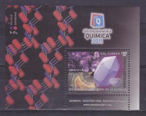 2011 Int.Year chemistry Jewelry Gemstone Amethyst Mineral URUGUAY Sc#2357 MNH