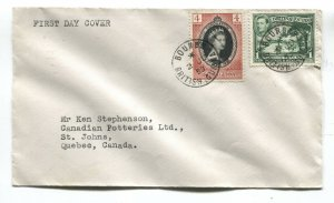 British Guiana 1953 QEII Coronation FDC cover