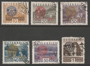 AUSTRIA SG666/71 1930 ROTARIAN CONGRESS FINE USED