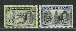 Nigeria Sc#46-47 M/H/VF, Cv. $30