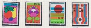 NETHERLANDS, 1972 Social Welfare Funds set of 4, lhm.