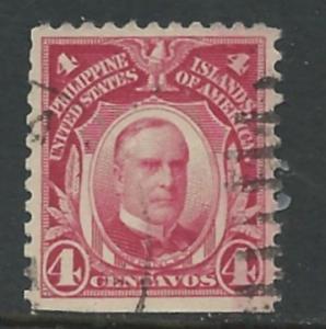 Philippines # 291  McKinley 4c   (1) Used Straight Edge