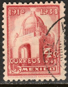MEXICO 709, 4c REVOLUTION MONUMENT 1934 DEFINITIVE USED. VF. (526)
