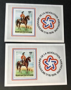 1976CENTRAL AFRICAN REPUBLIC #C144  Bicentennial MNH  Perforated / Imperforated