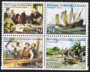 2620 - 2623 First Voyage of Columbus F-VF MNH block of 4