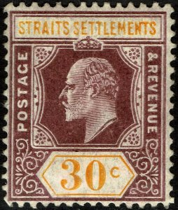 Straits Settlements #120  Unused - 30c King Edward VII (1973)