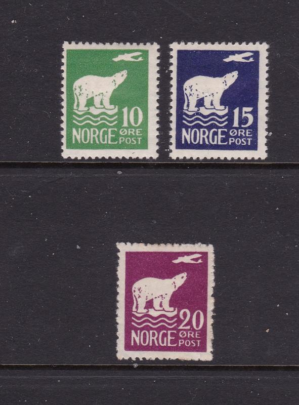 Norway x 3 MH from the 1925 Air set