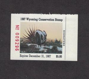 WY4 - Wyoming State Duck Stamp.  Single. MNH. OG.