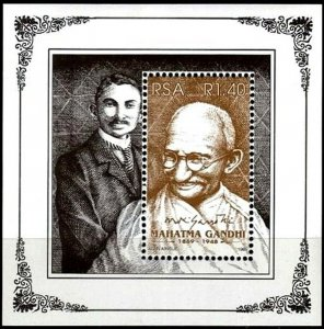 SOUTH AFRICA - 1995 - MAHATMA GANDHI - PORTRAITS - JOINT ISSUE + MNH S/SHEET!