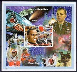 MOZAMBIQUE 2007 Yuri Gagarin-Laika/Formula 1 Hamilton History of XXI Century S/S