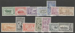 FALKLAND ISLANDS SG172/85 1952 DEFINITIVE SET MNH