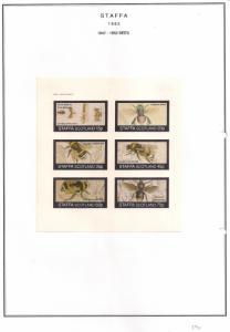 SCOTLAND - STAFFA - 1982 - Bees - Imperf 6v Sheet - MLH
