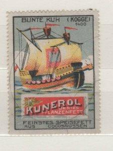 Germany - Kunerol Vegetable Oil - Sailing Ship Bunte Kuh (Colorful Cow)- NG